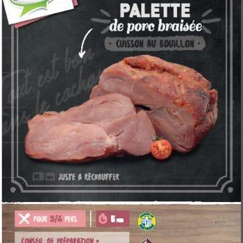 Palette de porc braisée cuit au bouillon Clermont