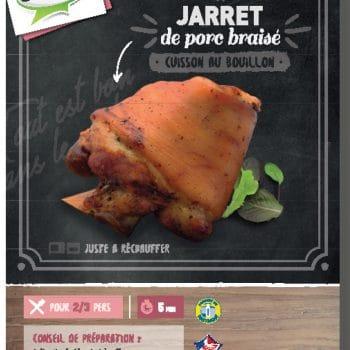 Jarret de porc braisé cuit au bouillon Clermont