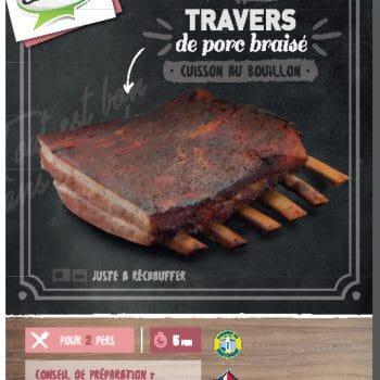 Travers de porc braisé Clermont cuit au bouillon