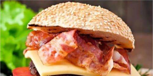Burger au lard