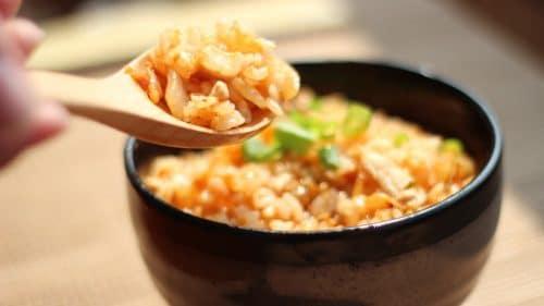 Salade de riz au jambon et ananas